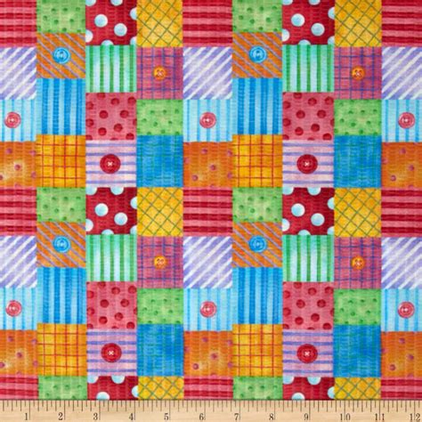 Patchwork Design Fabric - tutti frutti plisse patchwork multi discount designer