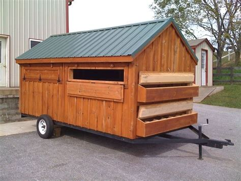 Mobile Chicken Shed by Mobile Chicken Coop Plans On Wheels Chicken Coop Large
