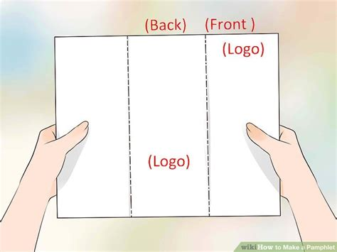 How To Make A Brochure Out Of Paper - how to make a phlet with pictures wikihow