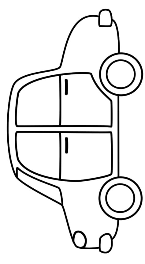 free coloring pages of simple car simple car coloring pages color bros
