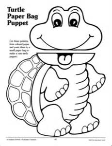 paper plate puppets templates best photos of turtle puppet template turtle paper bag