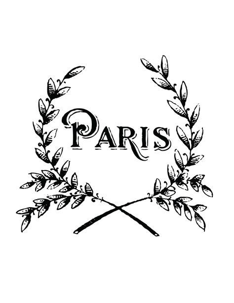 printable paris pictures french transfer printable paris wreath the graphics fairy