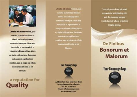 free illustrator brochure templates adobe illustrator templates for generic tri fold brochures