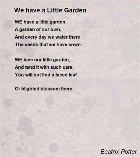we a garden poem by beatrix potter poem
