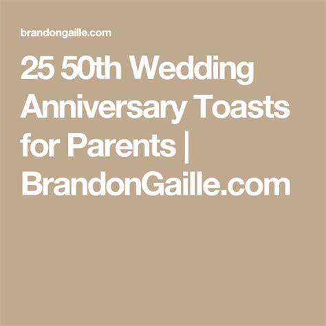 Wedding Anniversary Speech For Parents by Parents 50th Wedding Anniversary Toasts Search
