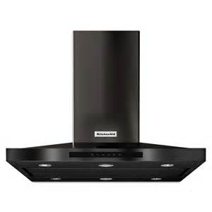 shop kitchenaid convertible island range hood black stainless steel common 36 in actual 36