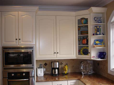 Charming Kitchen Nook With Storage #6: White-Kitchen-Set-With-Corner-Cabinet-Glass-Door.jpg