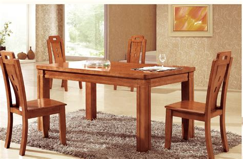 Handmade Dining Room Furniture - dining room best saving spaces solid wood dining room