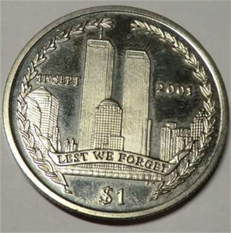 coin: 1 dollar (world trade center twin towers) (british