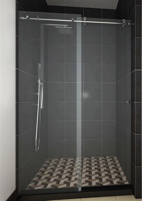 Sliding Frameless Glass Shower Door Bathroom Glass Sliding Shower Doors
