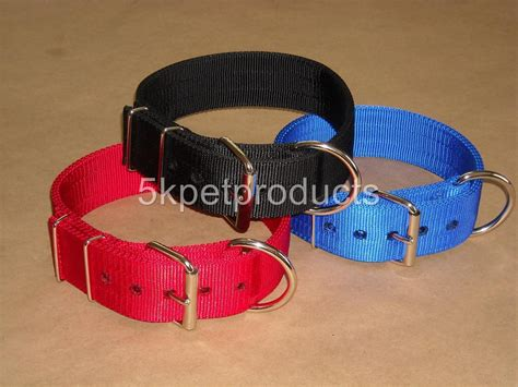 heavy duty collars 2 quot 3 ply buckle collar pit bull big