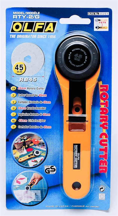 Olfa Rottary Cutter Rty 2g 45mm olfa rotary cutter rty 2g cutter knives cutting tools