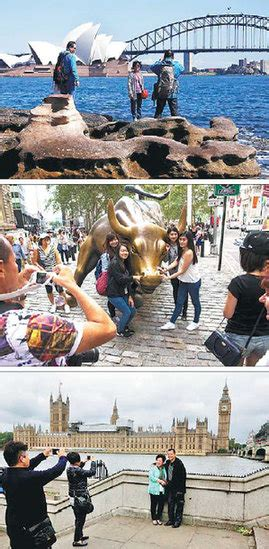 From Top Chinese Tourists Take Pictures As They Pose In