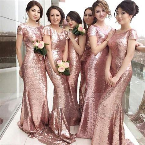 Bling Bling Rosegold bling bling gold bridesmaids dresses 2016 sequined