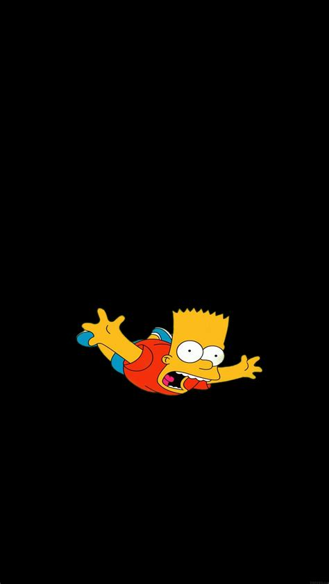 papersco iphone wallpaper ag bart simpson funny