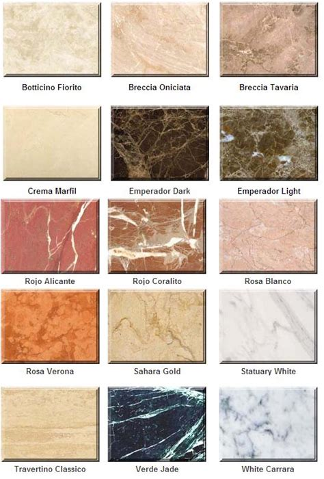 marble colors - Marmor Farbe
