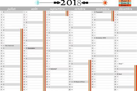 Calendrier 2018 Avec Vacances Scolaires Calendrier Scolaire 2018 Et 2019 192 Imprimer