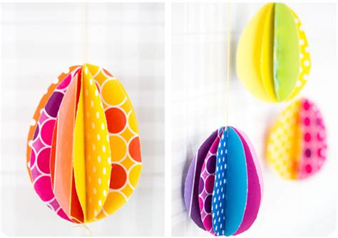 Easter Egg Paper Crafts - 10 and easy easter crafts for cool picks