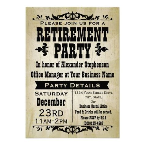 retirement announcement flyer template retirement announcement flyer retirement announcement