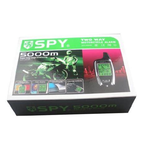 SPY 2 Way 5000m Motorcycle Alarm with Remote Start   Motoworld