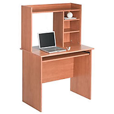office depot desk with hutch office depot brand no tools computer desk with hutch 51 58 x 35 12 w x 19 12 d maple by