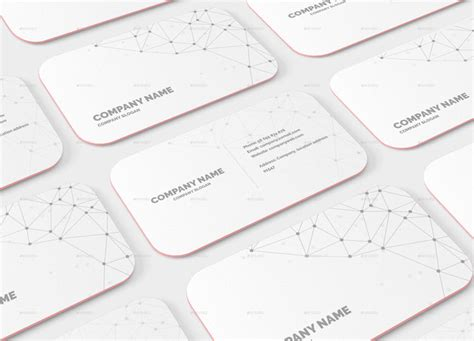 10 round corner business card mockup psd templates free
