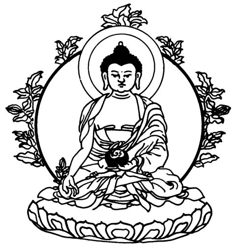 free coloring pages of buddha