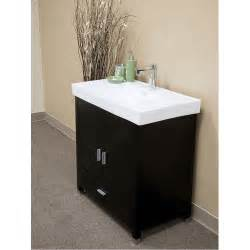 sink bathroom vanity bellaterra home visconti black finish 32 quot modern single