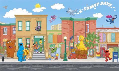 6 X 10 5 Sesame Street Wall Mural Prepasted Wallpaper Sesame Nursery Decor
