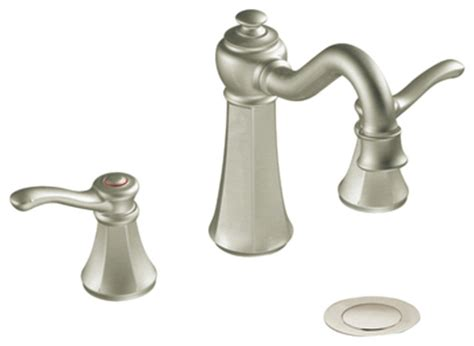 moen traditional bathroom faucet moen t6305bn brushed nickel bath sink faucet trim two