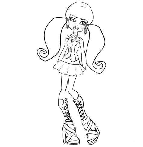 monster high clawd coloring pages free printable monster high coloring pages for kids
