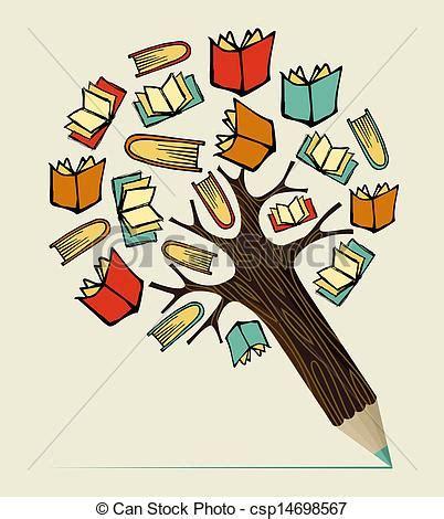 libro reading training love clip art de vectores de l 225 piz concepto educaci 243 n lectura 225 rbol reading csp14698567