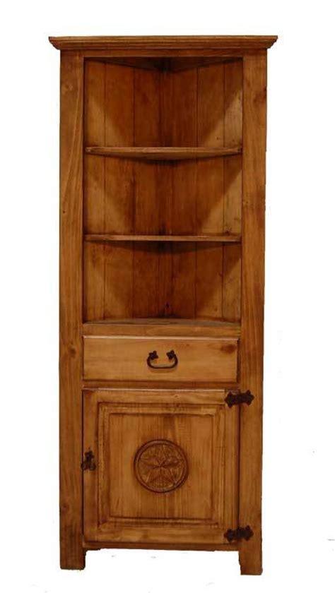 Corner bookcase w star great western furniture company