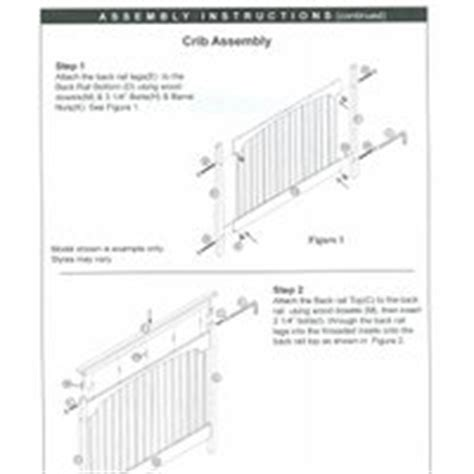 Graco Crib Assembly Directions by Graco Crib Assembly Pictures Images