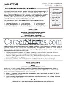 Resume For Graduate School Internship Internship Resume Sle Exle