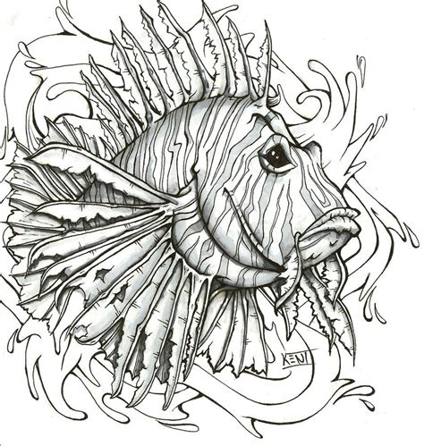 lionfish tattoo designs lionfish by kenidesu on deviantart