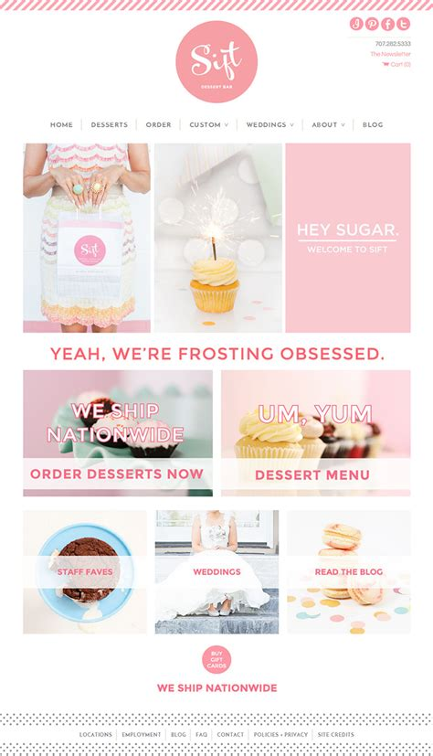 cake websites showcase of 10 beautiful cupcake website design