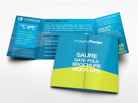 gate fold brochure template square gate fold brochure mockup by idesignstudio dribbble