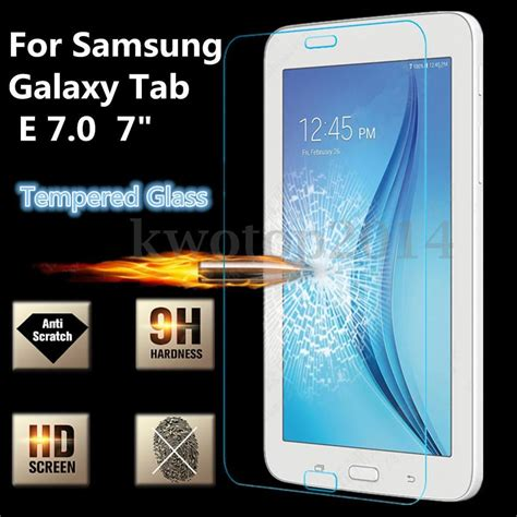 Tempered Glass Tab 3v 9h tempered glass screen protector for samsung galaxy tab e lite 7 0 tablet ebay