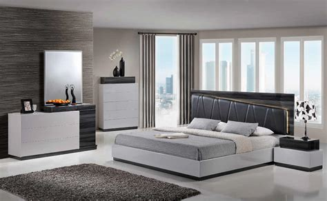 Grey Bedroom Furniture Set by Modern Size S Gr Silver Grey Led Light