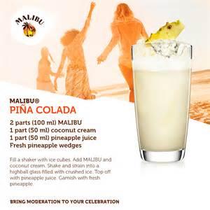 the classic malibu pina colada drinks pinterest