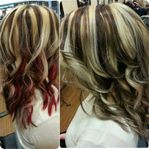 brown hair with red underneath pinterest the world s catalog of ideas