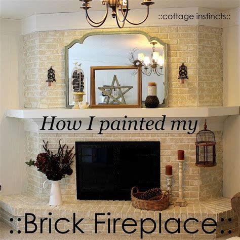 chalk paint brick fireplace cottage instincts about that fireplace for the home