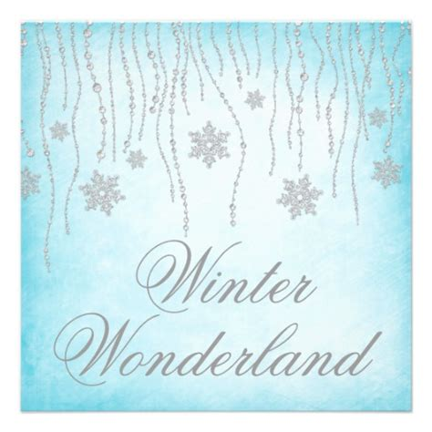 winter invitations templates winter snowflakes prom 5 25 quot square