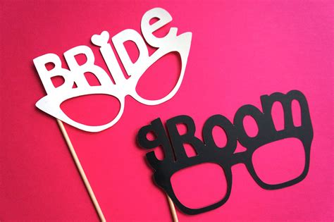 wedding photo booth props templates and groom wedding photobooth props onewed
