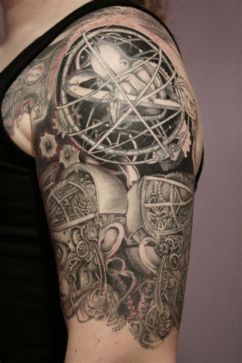 half sleeve biomechanical tattoo 3 tattoos book 65 000