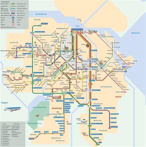 station map map of amsterdam subway underground metro