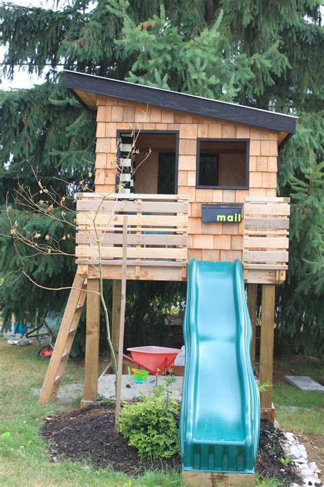 backyard playhouse kits dirt digging sisters diy modern playhouse