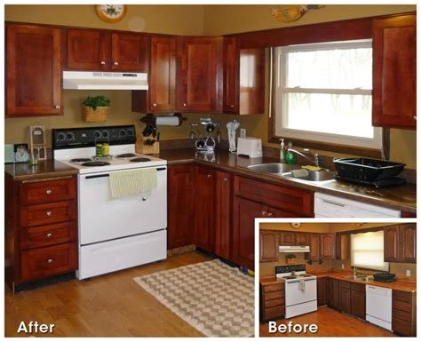 before and after kitchen refacing house remodel
