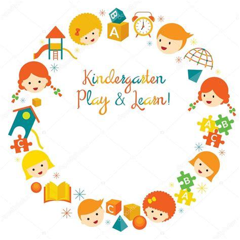 imagenes infantiles jardin de infantes jard 237 n de infantes preescolar ni 241 os guirnalda archivo
